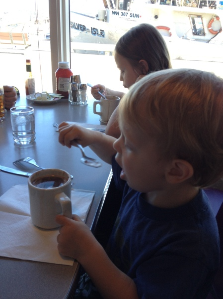hot chocolate for breakfast. naturally.
