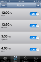 thank goodness for iphone schedules.
