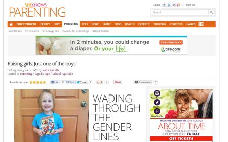Raising girls: Just one of the boys on SheKnows.com