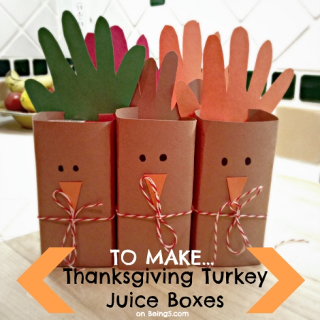 Thanksgiving Juice Box Turkeys